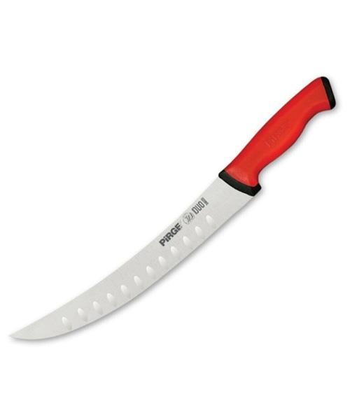 Pirge Et Doğrama Bıçak  Kıvrık Oluklu 21 cm Duo