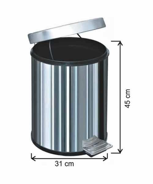 Arı Metal  30 lt Pedallı Çöp Kovası