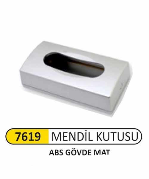 Arı Metal  Abs Mat Krom Kağıt Mendil Kutusu 9290