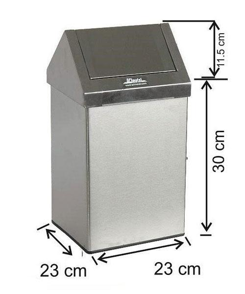 Arı Metal  Çatı Kapaklı Çöp Kovası 16 lt