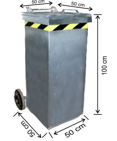 Arı Metal  Galvaniz Çöp Konteyneri 240 lt