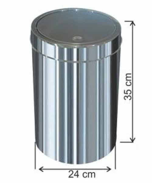 Arı Metal  İtme Kapaklı Çöp Kovası No:2 İ