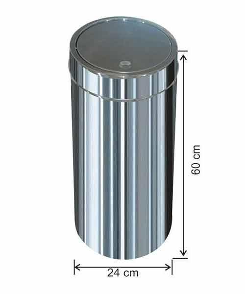 Arı Metal  İtme Kapaklı Çöp Kovası No:4 24X60X1 cm