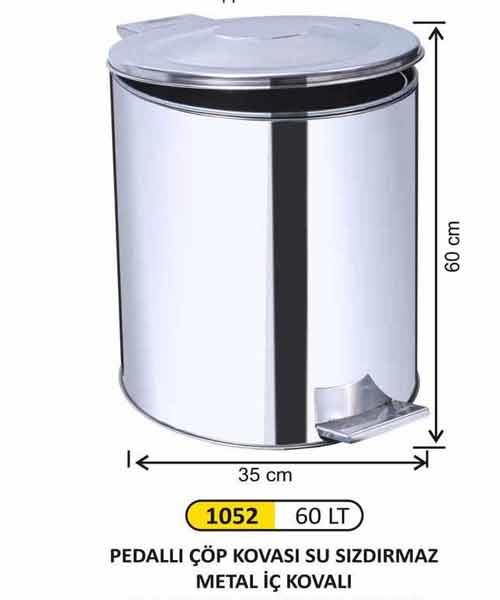 Arı Metal  Pedallı Çöp Kovası 60 lt