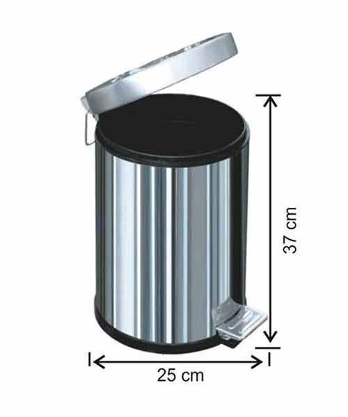 Arı Metal 12 lt Pedallı Çöp Kovası