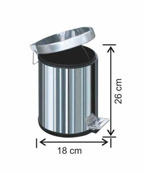 Arı Metal 3 lt Pedallı Çöp Kovası