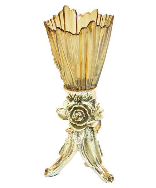 Royal Art Alize Kuvars Silver Büyük Şamdan