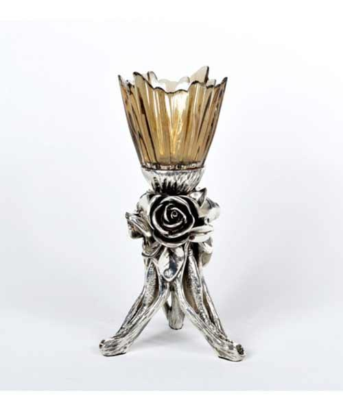 Royal Art Alize Kuvars Silver Şamdan