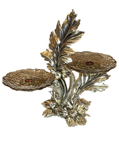 Royal Art Meşe Füme Silver Şamdan