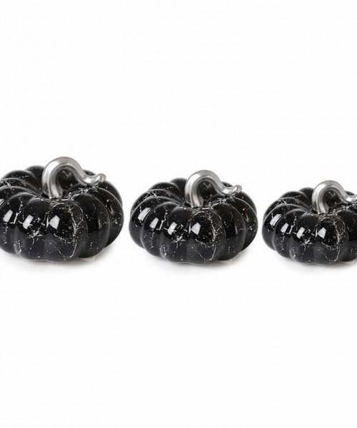 İpek 3 lü Siyah Gümüş Bal Kabağı Seramik Aksesuar