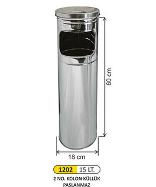 Arı Metal  Metal Kolon Küllük No:2