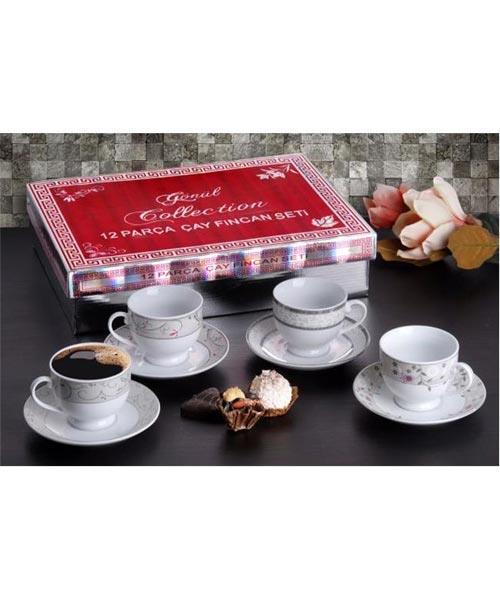Gönül 6 lı Porselen Çay Takımı