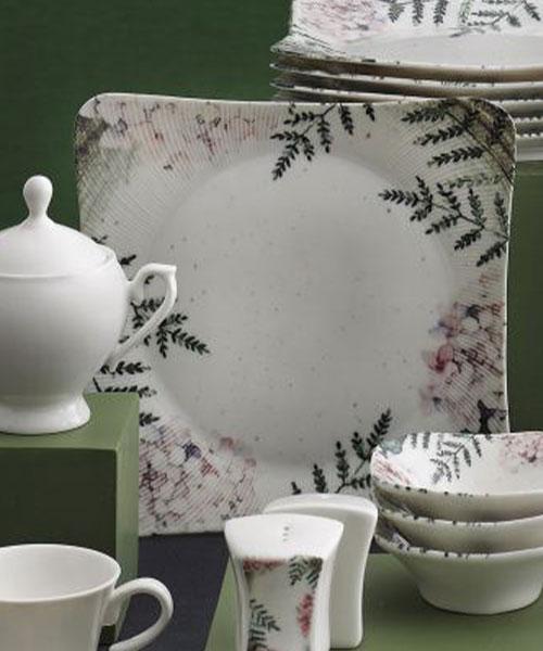 Güral Porselen 36 Parça Spinoza Bone Kahvaltı Takımı Elegant 1165