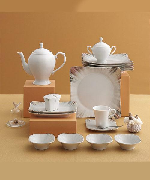 Güral Porselen 36 Parça Spinoza Bone Kahvaltı Takımı Elegant 725
