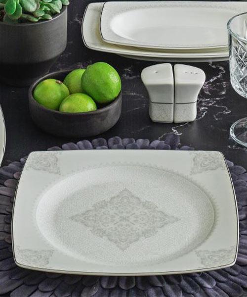 Güral Porselen Caroline 85 Parça Kare Yemek Takımı 5470