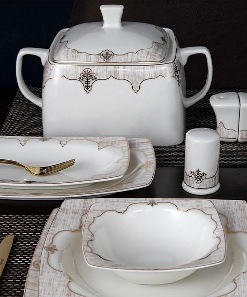 Güral Porselen Caroline 85 Parça Yemek Takımı 5941