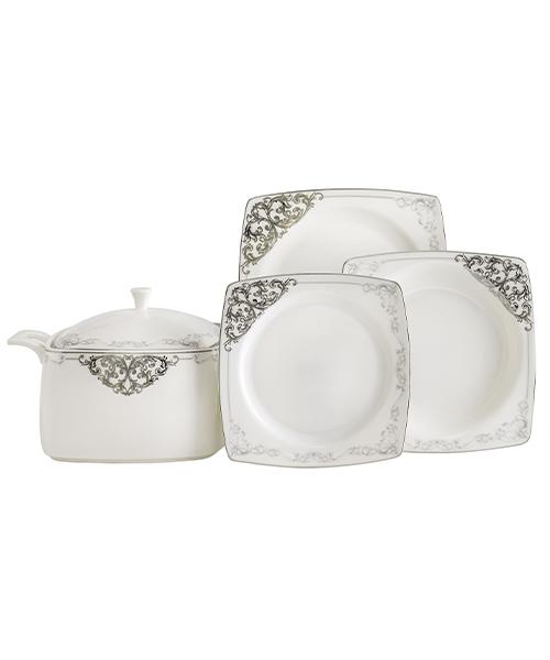Güral Porselen GBS Caroline 85 Parça Kare Yemek Takımı 5438