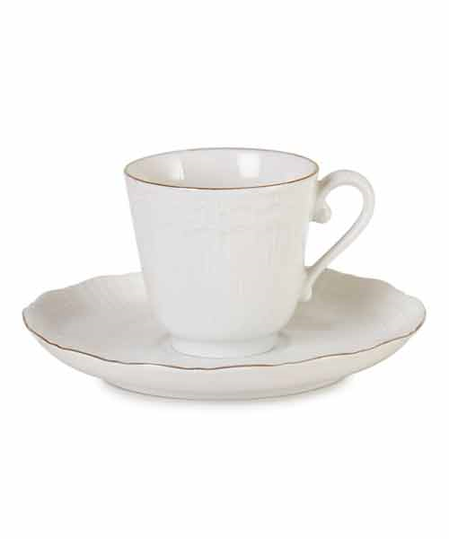 İpek 2 li Corail Porselen Kahve Takımı