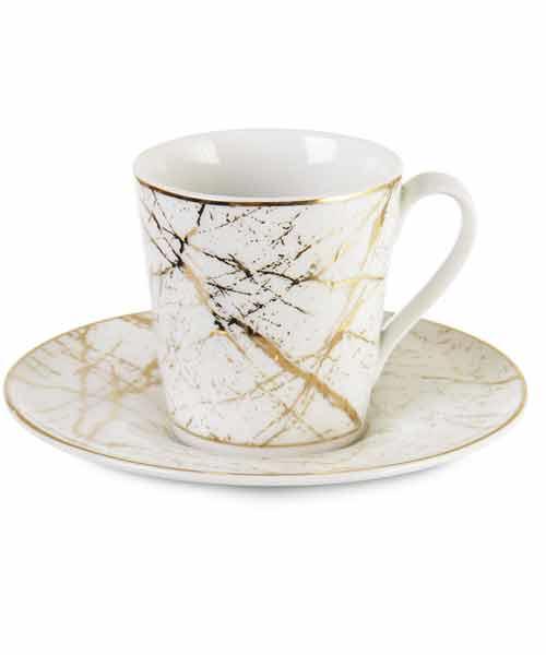İpek 6 lı Porselen Kahve Fincan Takımı