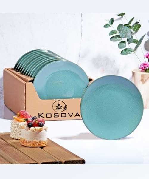 Kosova Züccaciye Ege Yeşil Pasta Tabak 20 cm 6´lı