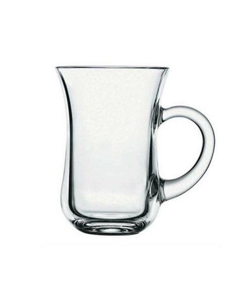 Paşabahçe Çay Bardağı 6lı Keyif Kulplu 554116