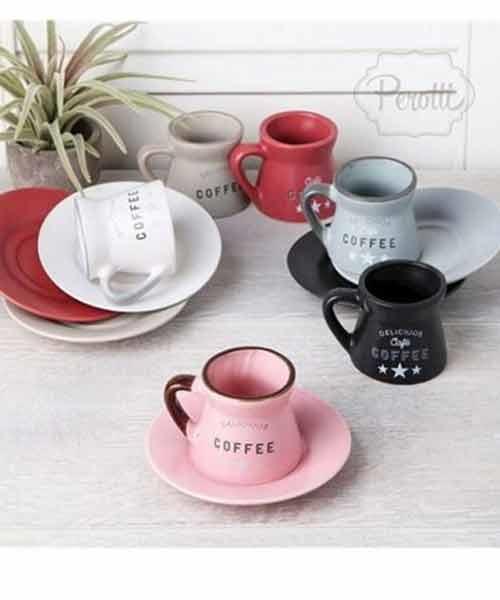 Sefa 6 lı Mat Renk Kahve Fincan Takımı
